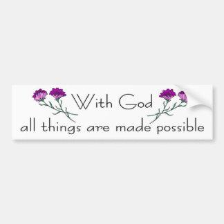 Avec Dieu toutes les choses sont rendues possibles Adhésifs Pour Voiture