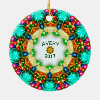 AVERY ~ entwirft personalisiertes Keramik Ornament