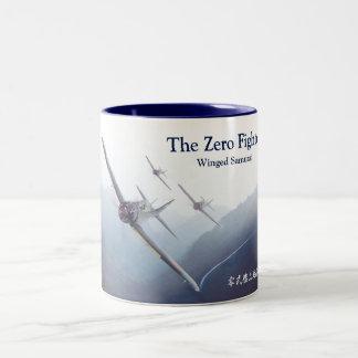 """Aviation Art Mug """"A6M  Zero"""" Zweifarbige Tasse"""