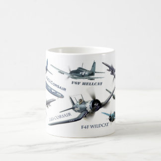 "Aviation Art Mug "" American warplane of WWII"" Kaffeetasse"