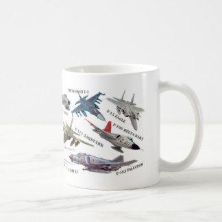 "Aviation Art mug ""Jet fighter""ジェット戦闘機のマグカップ Kaffeetasse"