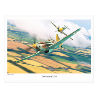 "Aviation Art Postcard ""Dewoitine D.520"" Postkarte"