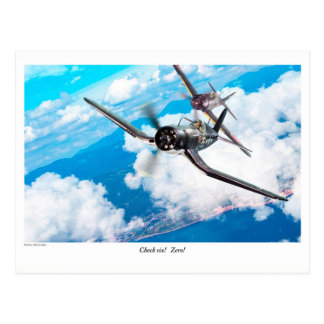 "Aviation Art Postcard ""F4U Corsair"" Postkarte"