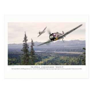 "Aviation Art Postcard ""Focke-Wulf Fw 190"" Postkarte"