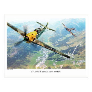 "Aviation Art Postcard ""Messerschmitt Bf109E"" Postkarte"
