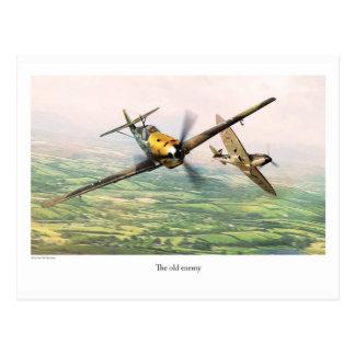 """Aviation Art Postcard """"Messerschmitt Bf 109E"""" Postkarte"""