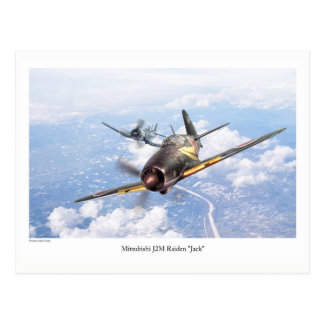 "Aviation Art Postcard ""Mitsubishi J2M Jack"" Postkarte"