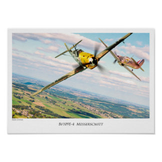 "Aviation Art Poster ""Bf 109E"""