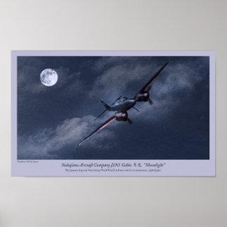"Aviation Art Poster "" Nakajima J1N Irving"""