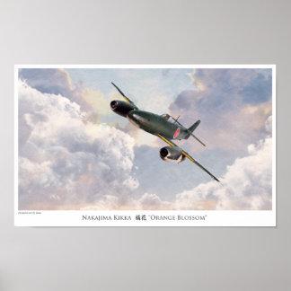 """Aviation Art Poster """"Nakajima Kikka"""""""