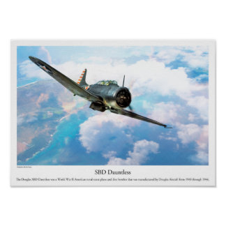 "Aviation Art Poster ""SBD Dauntless"""