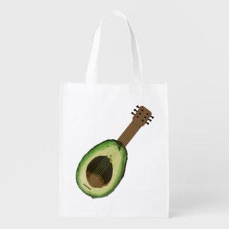 Avocado-Gitarren-wiederverwendbare Tasche Wiederverwendbare Einkaufstaschen