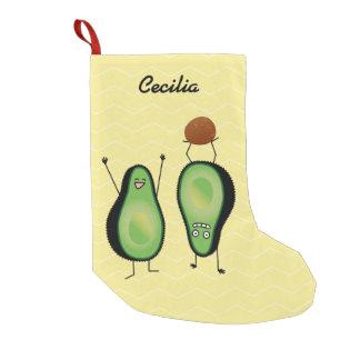 Avocado lustige zujubelnde grüne Grube Handstand Kleiner Weihnachtsstrumpf