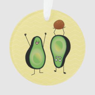 Avocado lustige zujubelnde grüne Grube Handstand Ornament
