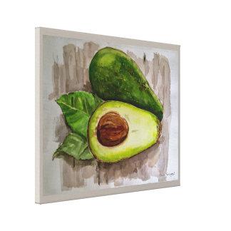 Avocado-noch Lebenwatercolor-Leinwand-Druck 20x16 Leinwanddruck