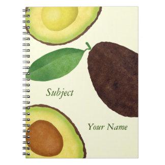 Avocado-Notizbuch Notizblock