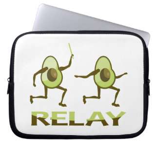 Avocado-Staffellauf Laptop Sleeve