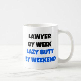 Avocat par bout paresseux de semaine par week-end mug