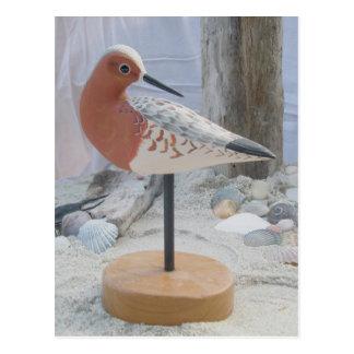 "Avocet""glatte"" Woodcarving-Postkarte Postkarte"