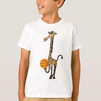 AW, Giraffe mit einem Basketball-Shirt T-Shirt