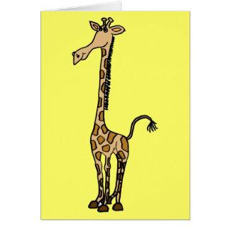 AW, wunderliche Giraffen-Anmerkungskarte oder Karte