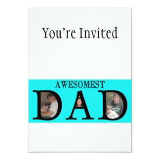 Awesomest Vati-Vatertag addieren Ihr Bild-Logo 12,7 X 17,8 Cm Einladungskarte