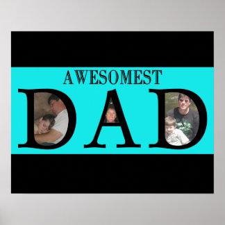 Awesomest Vati-Vatertag addieren Ihr Bild-Logo Poster