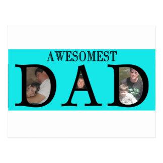 Awesomest Vati-Vatertag addieren Ihr Bild-Logo Postkarte