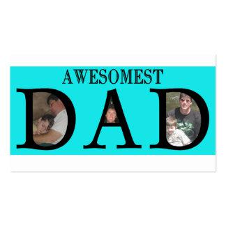 Awesomest Vati-Vatertag addieren Ihr Bild-Logo Visitenkarten Vorlage