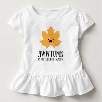 Awwtumn ist mein Lieblingsbaby-Rüsche-Shirt der Kleinkind T-shirt