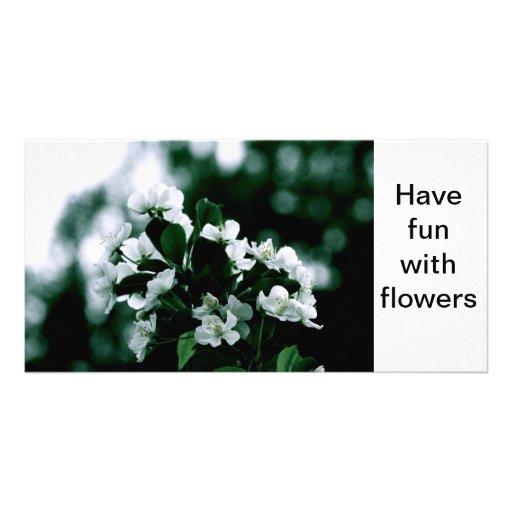 Ayez l'amusement avec des fleurs cartes de vœux avec photo