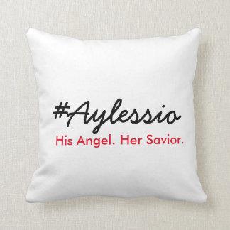 #Aylessio, sein Engel, ihr Retter Zierkissen