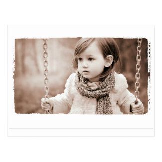 aza Farbsepiaphotographie Postkarte