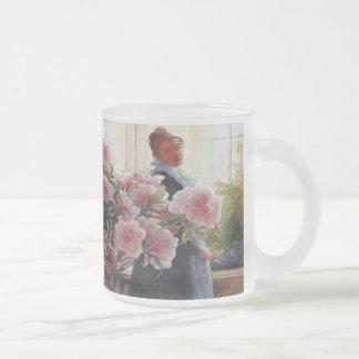 Azaleen-Vintage feine mit Blumenkunst Karls Mattglastasse