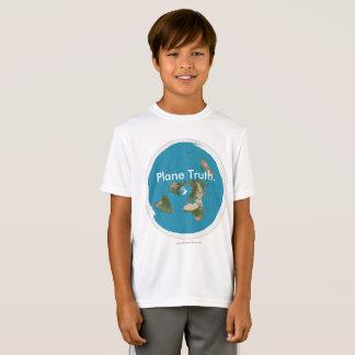 """Azimuthal äquidistante """"Flugzeug-Wahrheit."""" T-Shirt"""