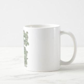 Aztekische Jade-Schlange Kaffeetasse