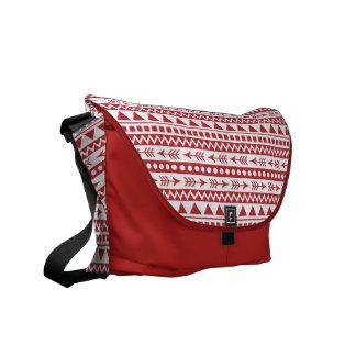 Aztekische Musterbotetaschen Kurier Tasche