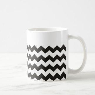Aztekische Zickzack Schwarzweiss-Zickzackstreifen Kaffeetasse