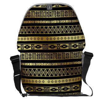 Aztekischer Stammes- Druck-neutrales Schwarzes u. Kurier Taschen