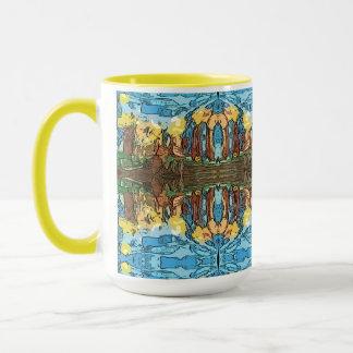 Aztekisches gelbes Abenteuer Tasse