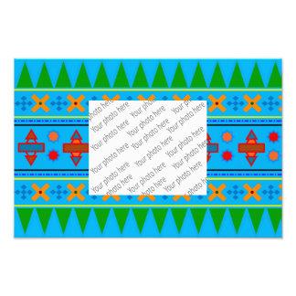 Aztekisches Stammes- Muster des Photodrucke