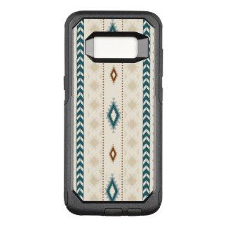 Aztekisches Stammes- neutrales Braun-beige OtterBox Commuter Samsung Galaxy S8 Hülle