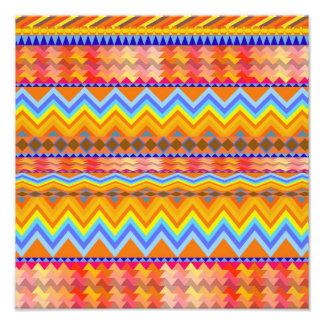 Aztekisches Zickzack Anden-Muster Photo Druck