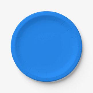 Azurblauer Normallack fertigen es besonders an Pappteller 17,8 Cm