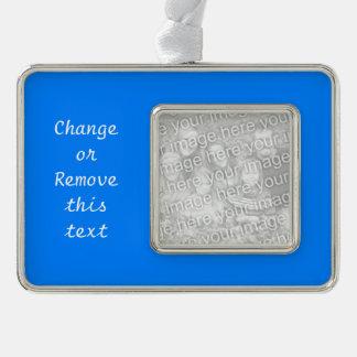 Azurblauer Normallack fertigen es besonders an Rahmen-Ornament Silber