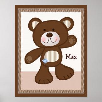 B est pour l'affiche personnalisée d'art d'ours de poster