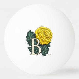 """""""B für Begonie"""" Blumen-Monogramm Ping-Pong Ball"""