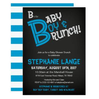 B ist für Baby-Babyparty-Einladungs-Karte Karte