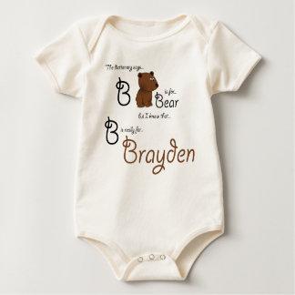 B ist für Brayden, Baby-Bärn-T-Stück Baby Strampler