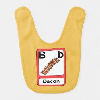 B ist für Speck Lätzchen